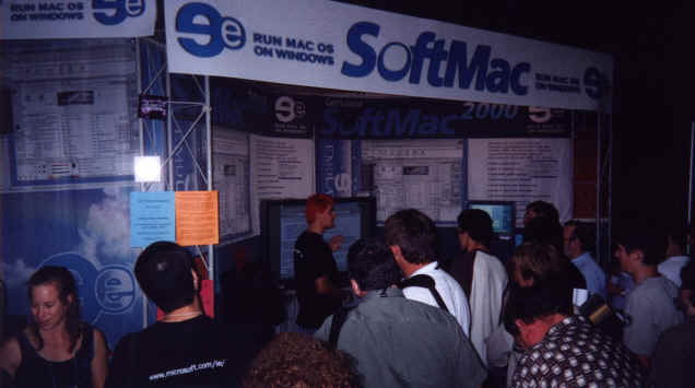 Darek demonstrating the latest SoftMac 2000 release